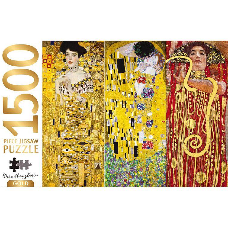 Hinkler Mindbogglers Gold 1500 Piece Puzzle Klimt Collection, , hi-res