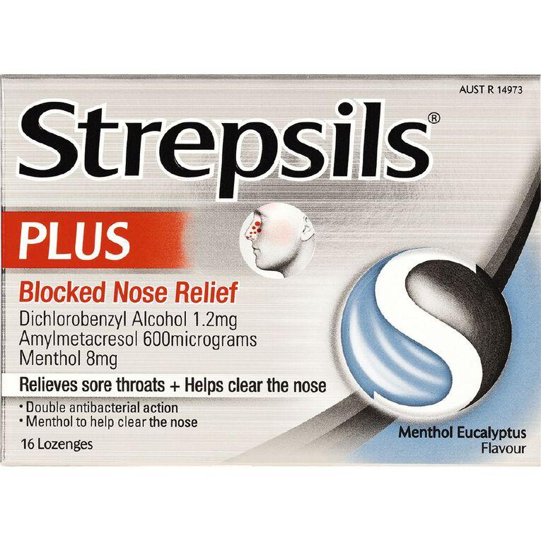 Strepsils Plus Blocked Nose Relief Lozenges 16s, , hi-res