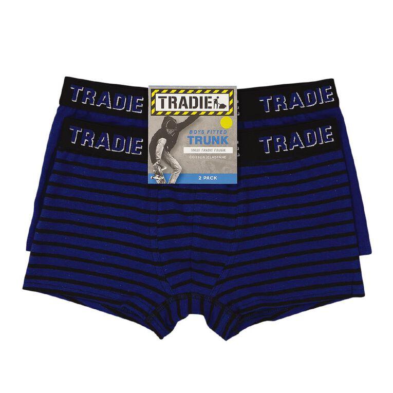 Tradie Boys' Trunk 2 Pack, Blue, hi-res