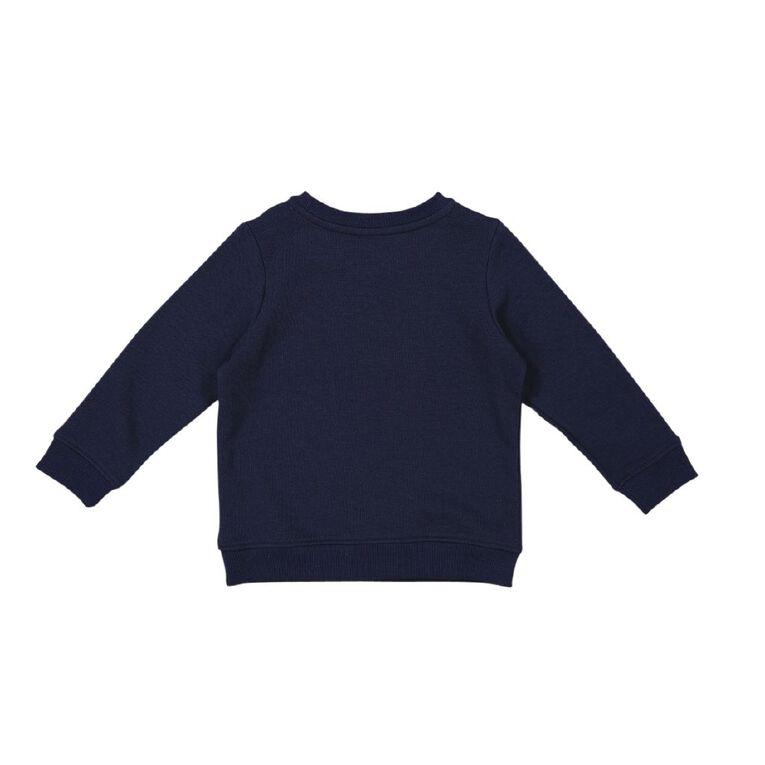 Young Original Toddler Printed Crew Sweatshirt, Blue Dark, hi-res