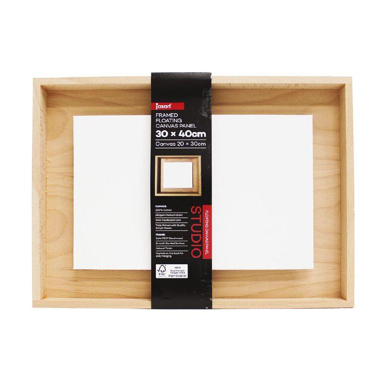 Jasart Framed Floating Canvas Panel 30x40cm, , hi-res