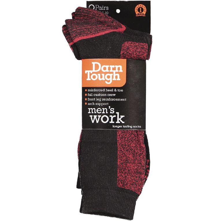 Darn Tough Men's Utility Crew Socks 2 Pack, Red, hi-res