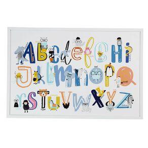 Living & Co Kids Alphabet Framed Print White 60 x 90 x 2.3cm