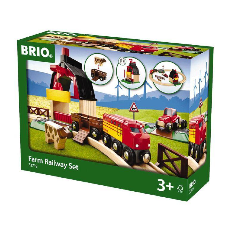 Brio Farm Railway Set 20 Pieces, , hi-res