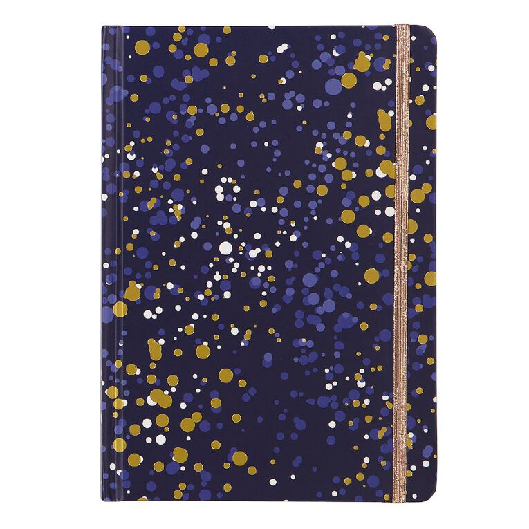 Uniti Fun & Funky Q4 Hardcover Notebook With Foil Navy A5, , hi-res