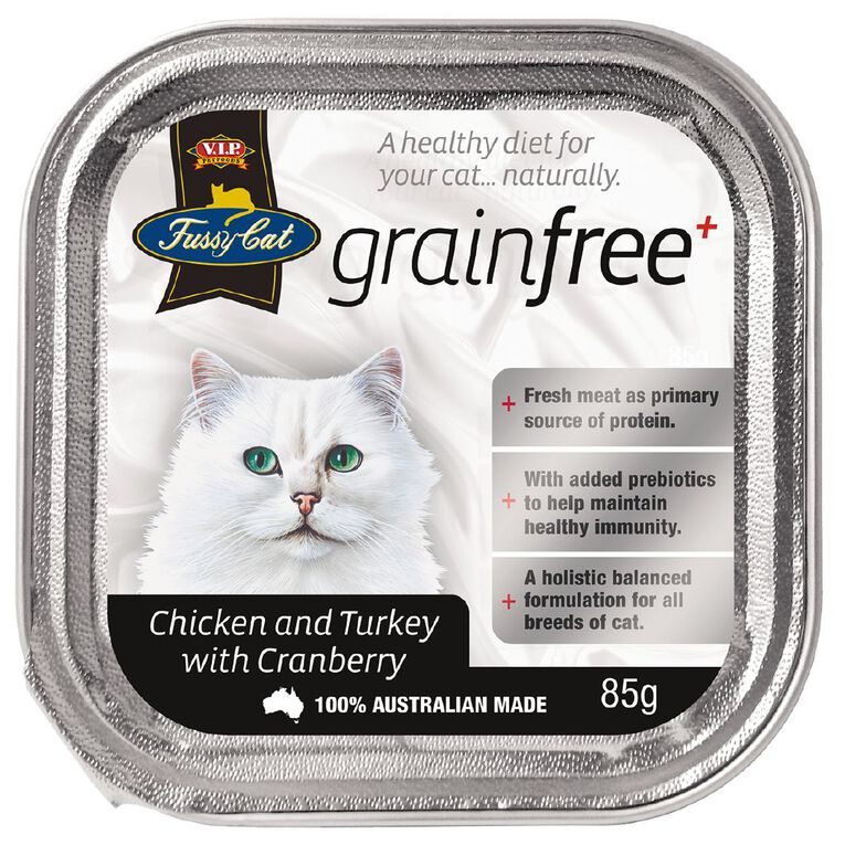 Fussy Cat Chicken & Turkey with Cranberry 85g, , hi-res
