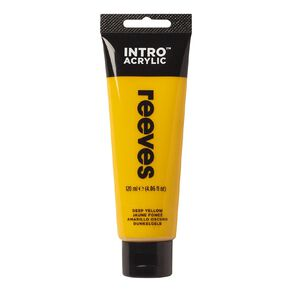 Reeves Intro Acrylic Paint Deep Yellow 100ml