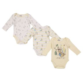 Peter Rabbit Long Sleeve 3 Pack Bodysuits