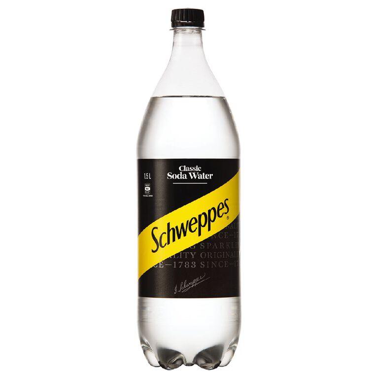 Schweppes Schweppes Soda Water 1.5 Litre 1 1/2L, , hi-res