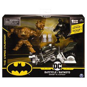 Batman DC Batman Batcycle With Two Figures