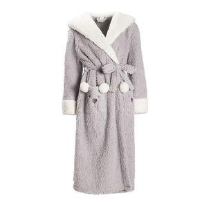 H&H Women's Hooded Sherpa Teddy Robe