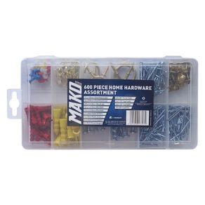 Mako Home Hardware Assortment 600 Piece