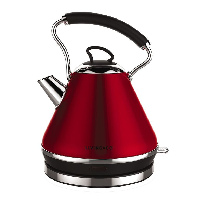 Living & Co Pyramid Kettle Red, , hi-res