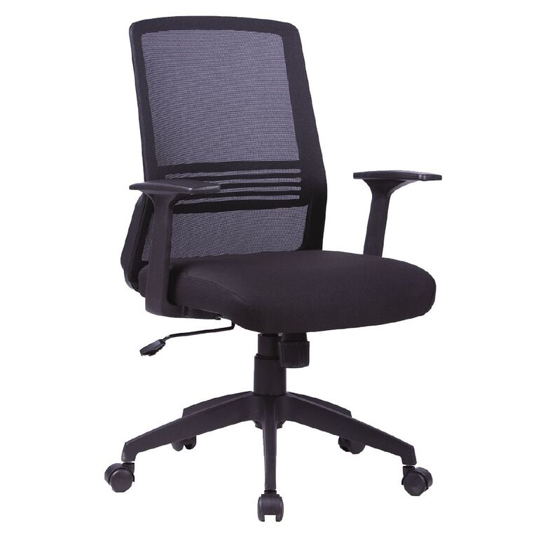 Workspace Ergo Meshback Chair Black, , hi-res
