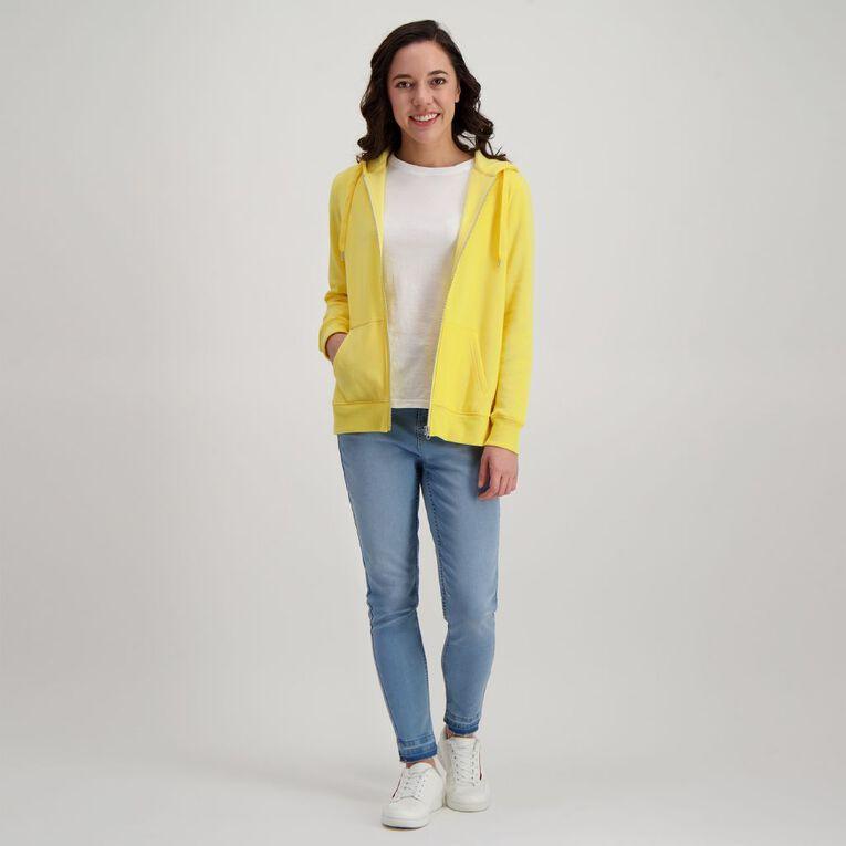 H&H Women's Zip Thru, Yellow Light, hi-res