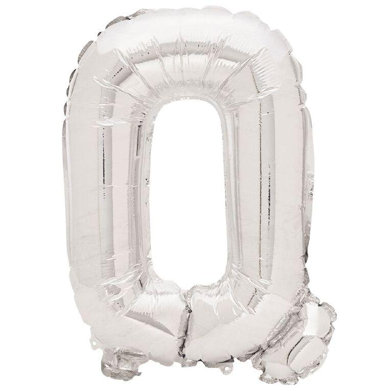 Artwrap Foil Balloon Q Silver 35cm, , hi-res