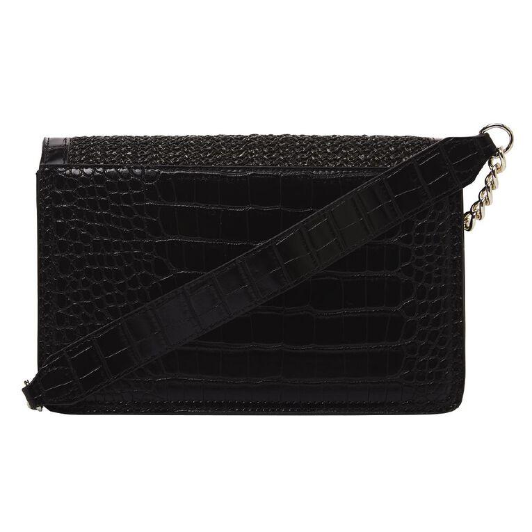 H&H Women's Woven Party Handbag, Black, hi-res