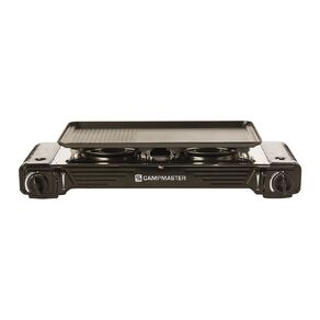 Campmaster Double Burner Butane Stove with Hotplate