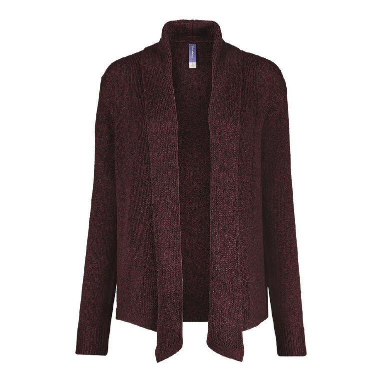 Pickaberry Women's Soft Drape Cardigan, Purple Dark, hi-res