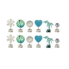Kids' Mermaid Snowflake Unicorn 6pr Clip Earrings