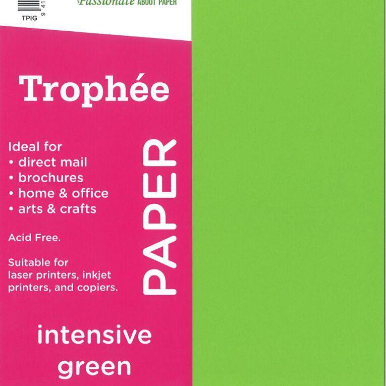 Trophee Paper 80gsm 30 Pack Intensive Green A4, , hi-res