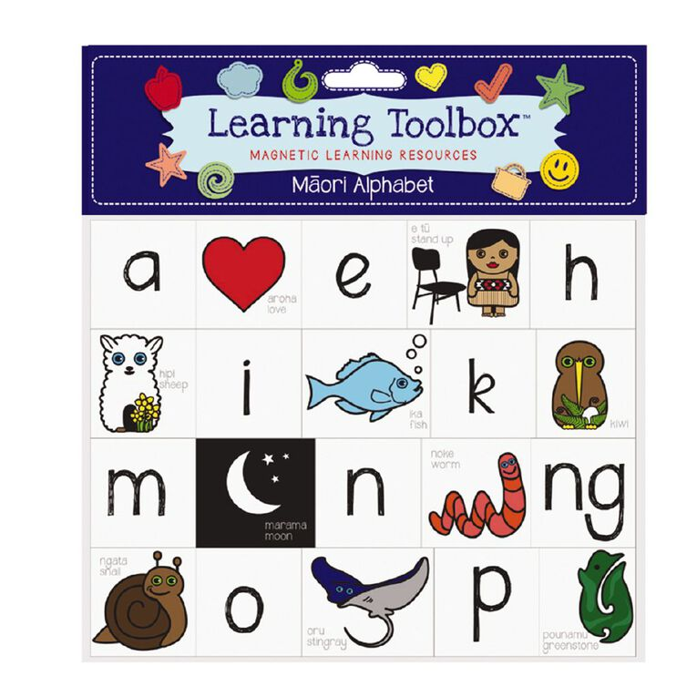 Learning Tool Box Magnetic NZ Maori Alphabet Assorted 40 Pack, , hi-res image number null