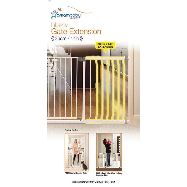 Dreambaby Liberty Hallway Security Gate Extension 36cm, , hi-res
