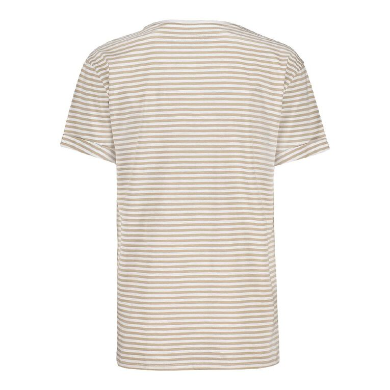 H&H Women's Oversized Roll Sleeve Tee, Taupe, hi-res