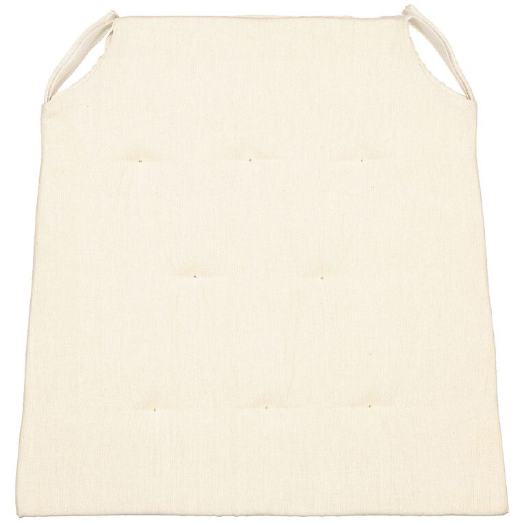 Living & Co Cotton/Foam Chair Pad Taupe 40cm x 40cm, Taupe, hi-res image number null