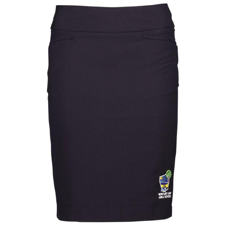 Schooltex Mercury Bay Area School Skirt with Embroidery, Navy, hi-res