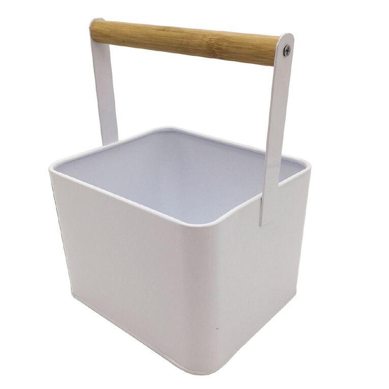 Living & Co Peg Storage Tin White, , hi-res