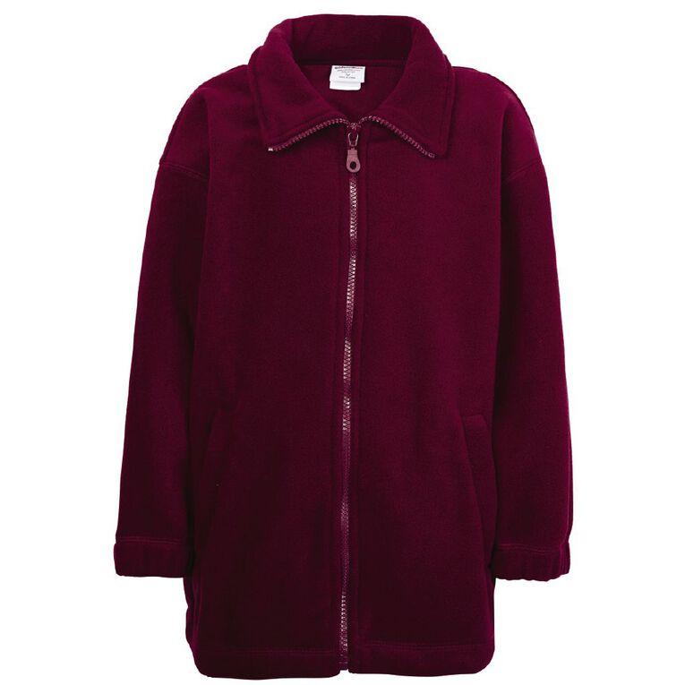 Schooltex Full Zip Polar Fleece Jacket, Burgundy, hi-res
