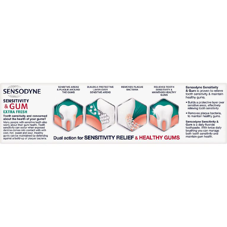 Sensodyne Sensitivity and Gum Extra Fresh Toothpaste 100g, , hi-res image number null