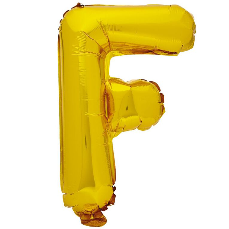 Artwrap Foil Balloon F Gold 35cm, , hi-res