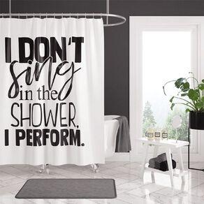 Living & Co Shower Curtain Perform White 180cm x 180cm