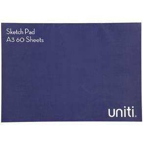 Uniti Sketch Pad 60 Sheets A3