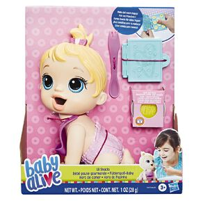 Baby Alive Lil Snacks Baby Blonde Hair
