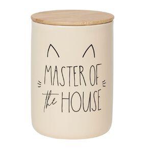 Petzone Treat Jar Master of House