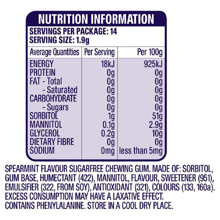 Extra Spearmint Chewing Gum Sugar Free 14 Piece 27g, , hi-res