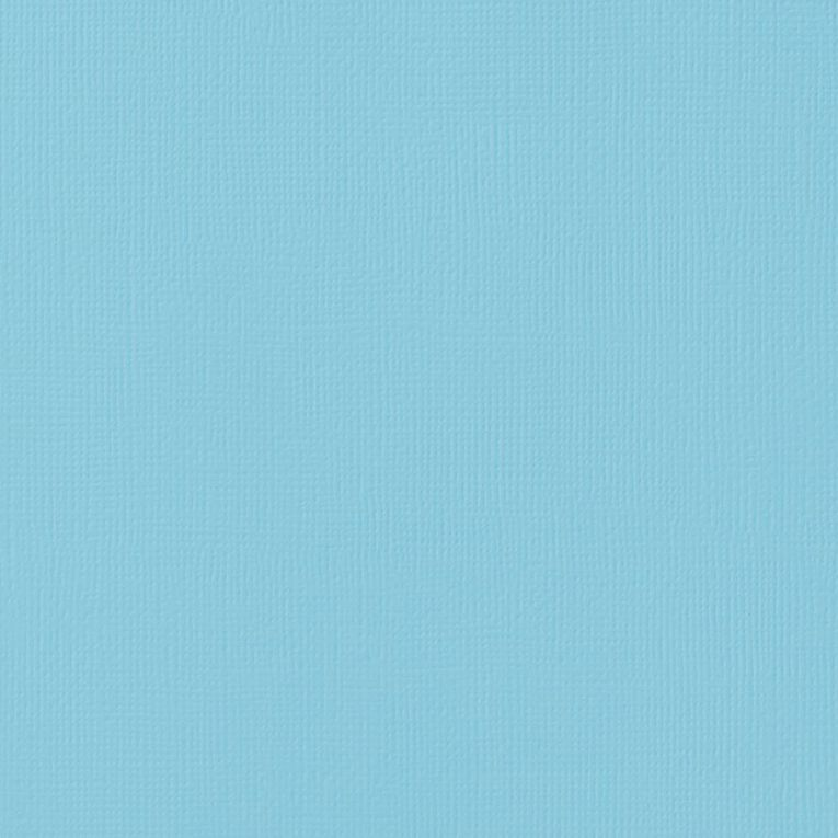 American Crafts Cardstock Textured Pool Blue 12in x 12in, , hi-res