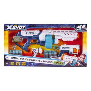 Zuru X-Shot Excel Combo Pack Turbo Fire Fury 4 & Micro