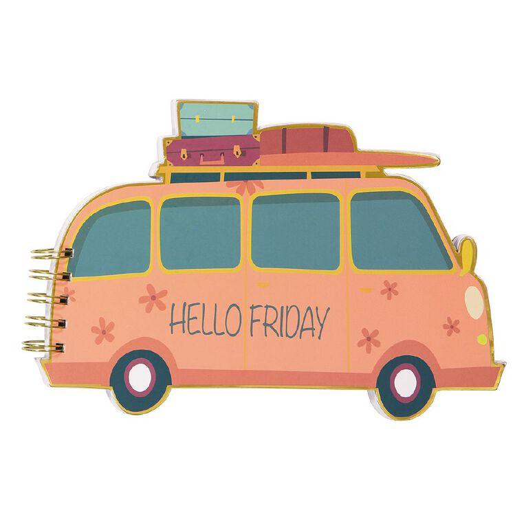 Uniti Fun & Funky Q4 Bus Shape Notepad Pink, , hi-res