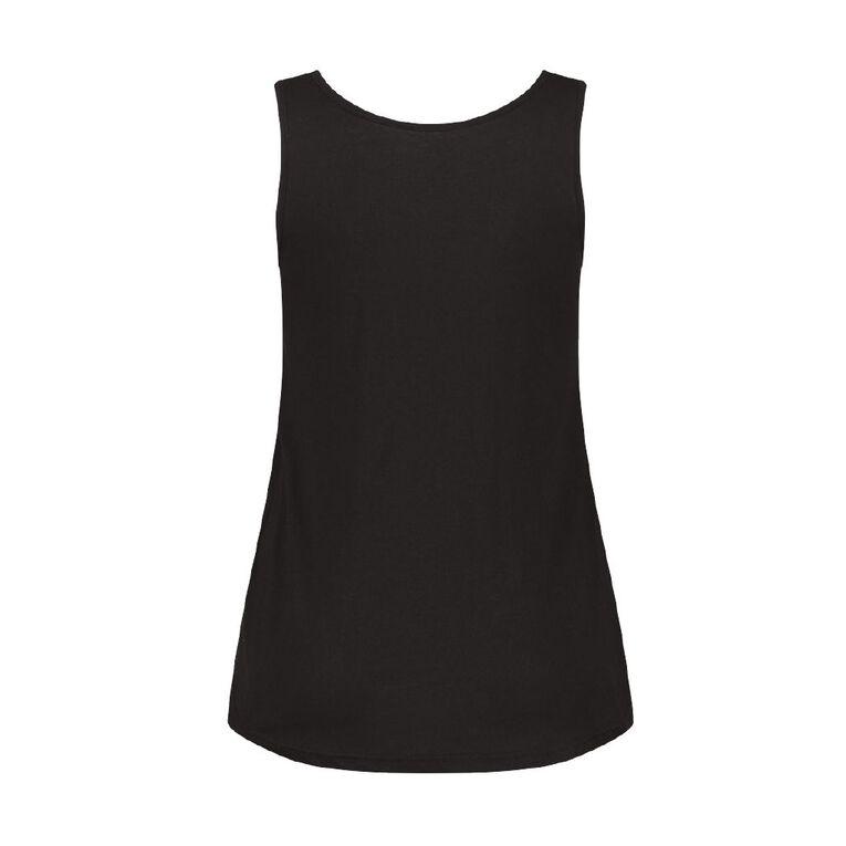 H&H Women's Fashion Scoop Singlet, Black, hi-res