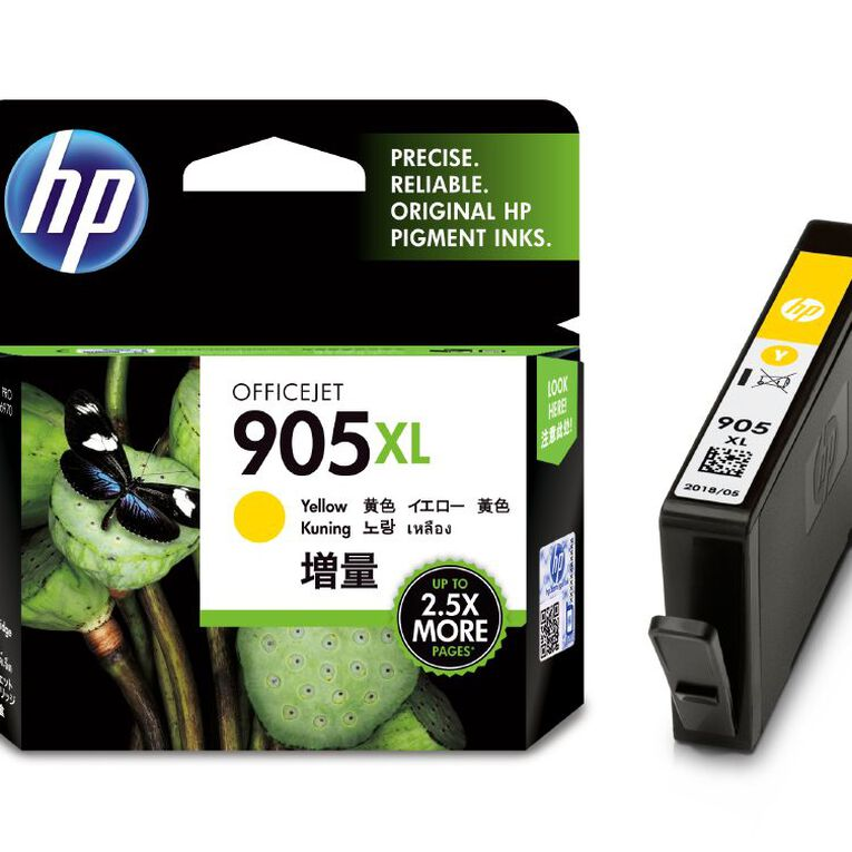 HP Ink 905XL Yellow (825 Pages), , hi-res