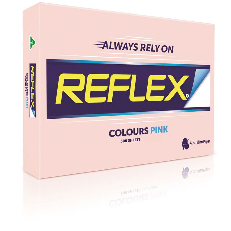 Reflex Paper 80gsm Tints 500 Pack Pink A3, , hi-res