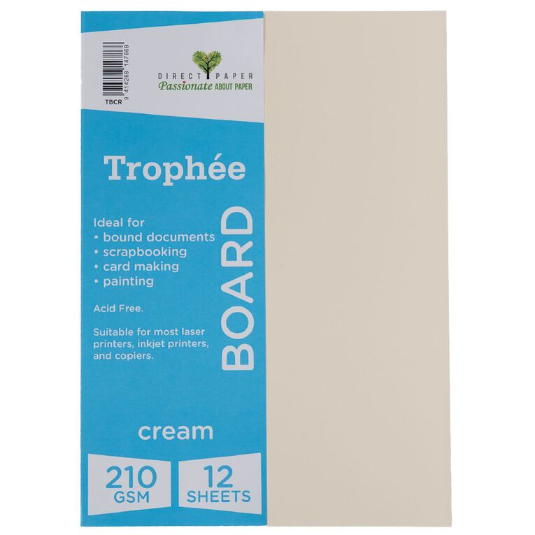 Trophee Board 210gsm 12 Pack Cream A4, , hi-res