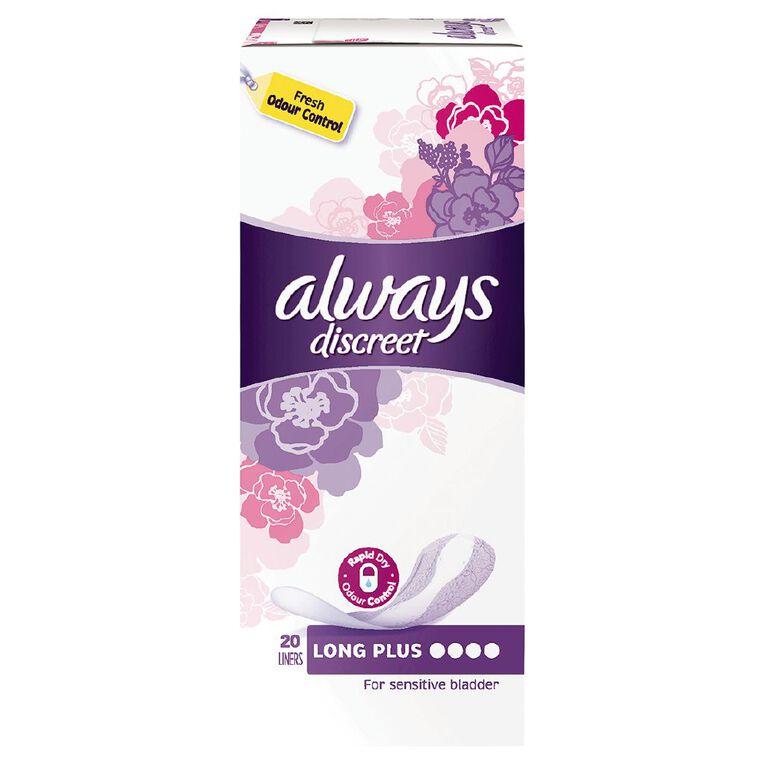 Always Discreet Liner Plus 20 Pack, , hi-res