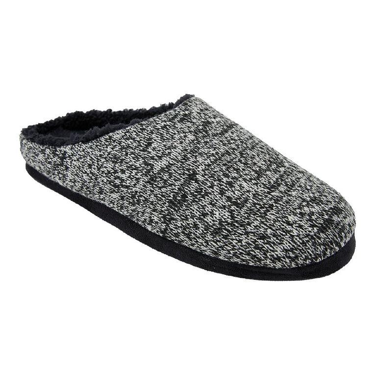 H&H Knit Scuff Slippers, Black W21, hi-res