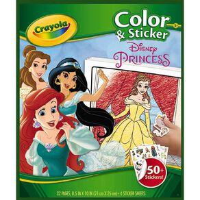 Crayola Color & Sticker Book Disney Princess