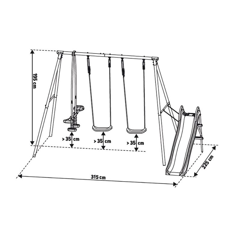 Active Intent Play 4 in 1 Swing Set, , hi-res